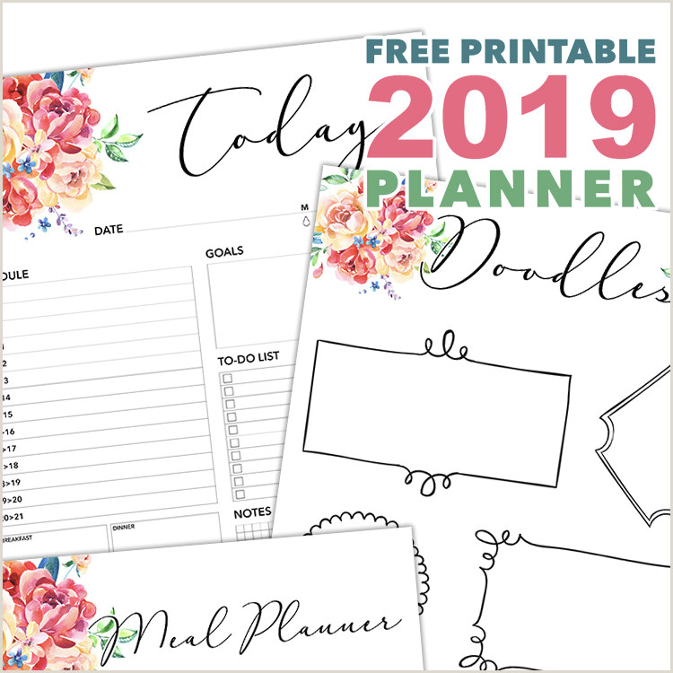 Two Page Monthly Calendar Template Free Printable 2019 Planner 50 Plus Printable Pages the