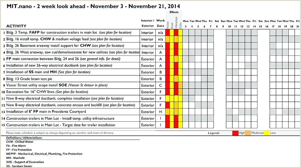Two Week Look Ahead Schedule Template Work Schedule Template Preview 3 3 Week Schedule Template 3