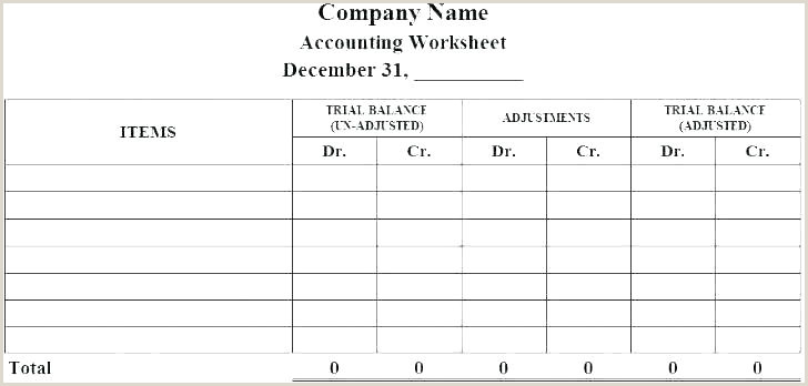 Unadjusted Trial Balance Template Trial Balance Sheet Template