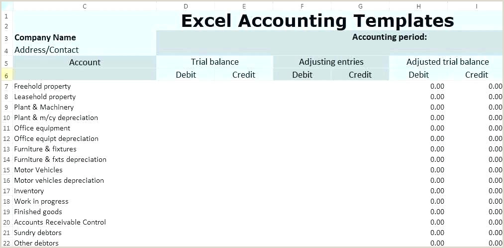 Unadjusted Trial Balance Template Trial Balance Template Excel – Laroute
