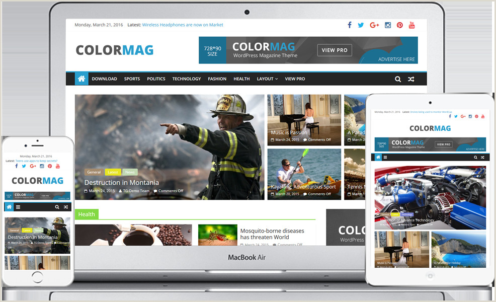 Under Construction HTML Free Colormag Free Magazine Style Responsive Wordpress theme 2019