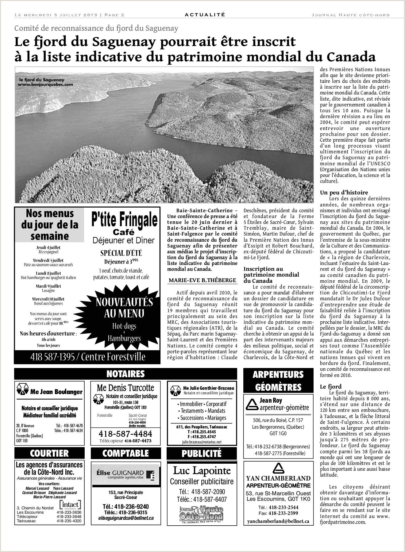 Le Haute C´te Nord 03 juillet 2013 Pages 1 32 Text