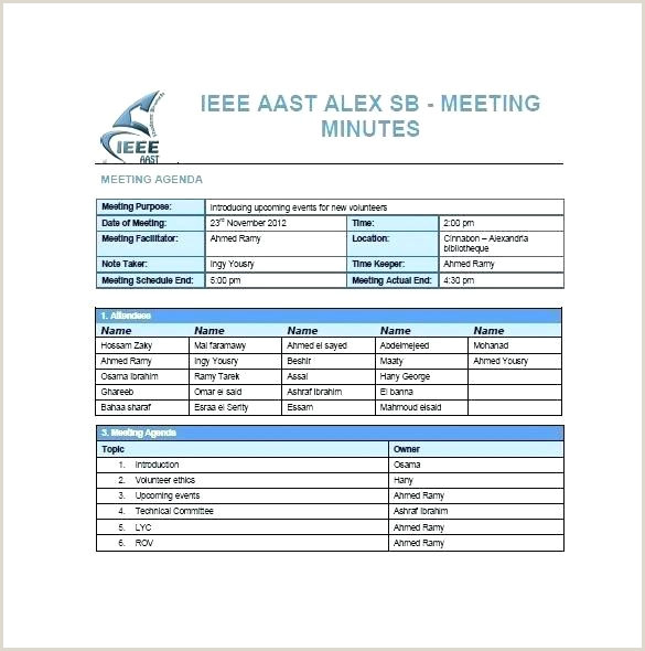 sample meeting minutes template – metabots