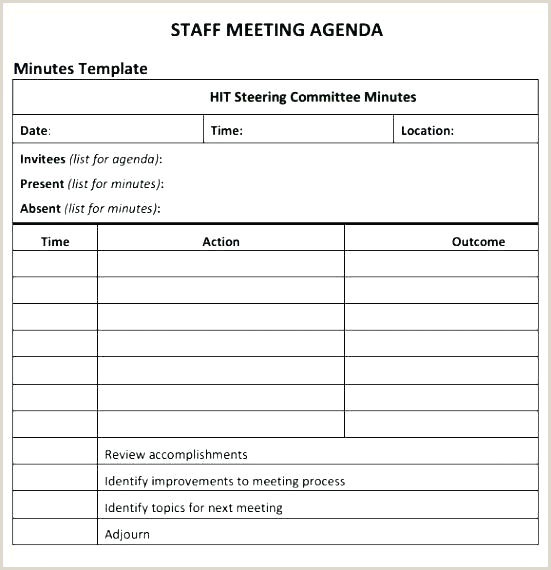 Union Meeting Minutes Template Steering Mittee Minutes Template