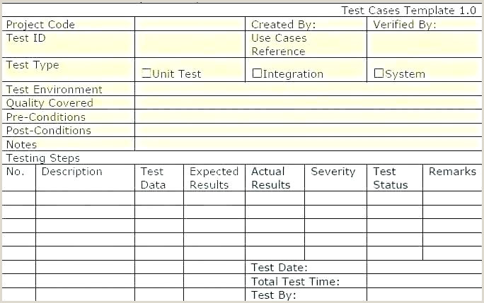 Unit Test Template Excel Product Checklist Template