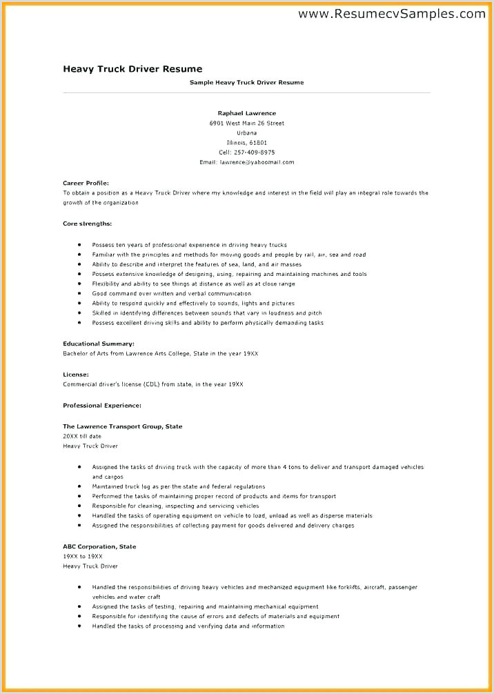 driver job description template