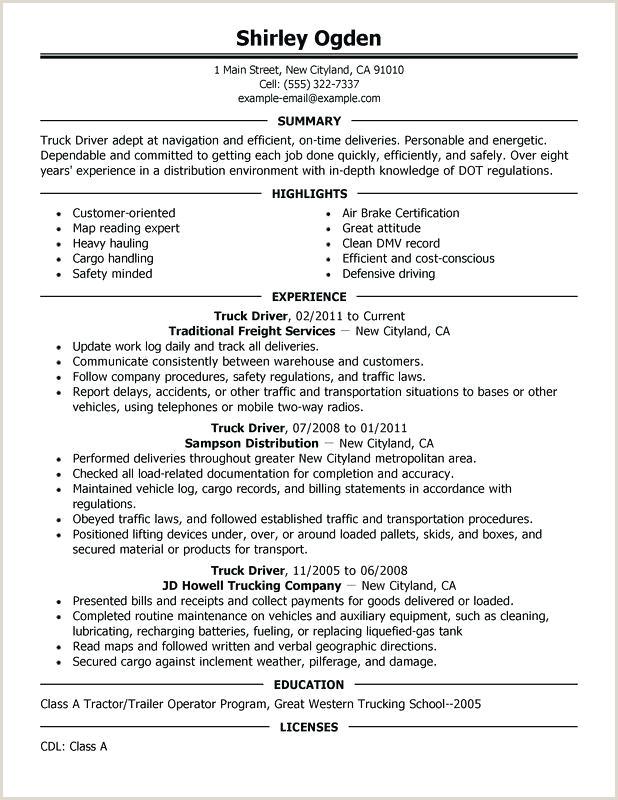 driver resume samples free – dstic