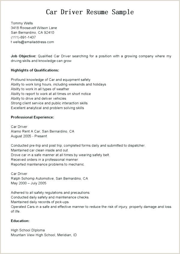 pany driver sample resume – podarki