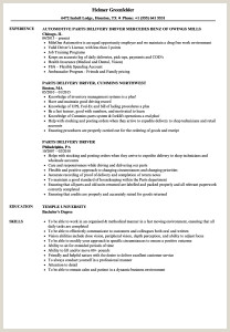 Truck Driver Resume Sample And Tips Geniusvery Example
