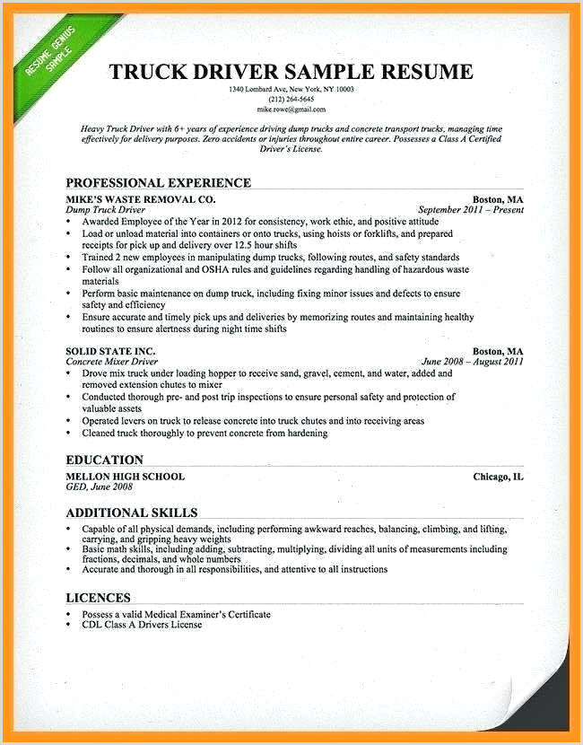 Ups Driver Resume Sample Truck Driver Sample Resume – Agarvain