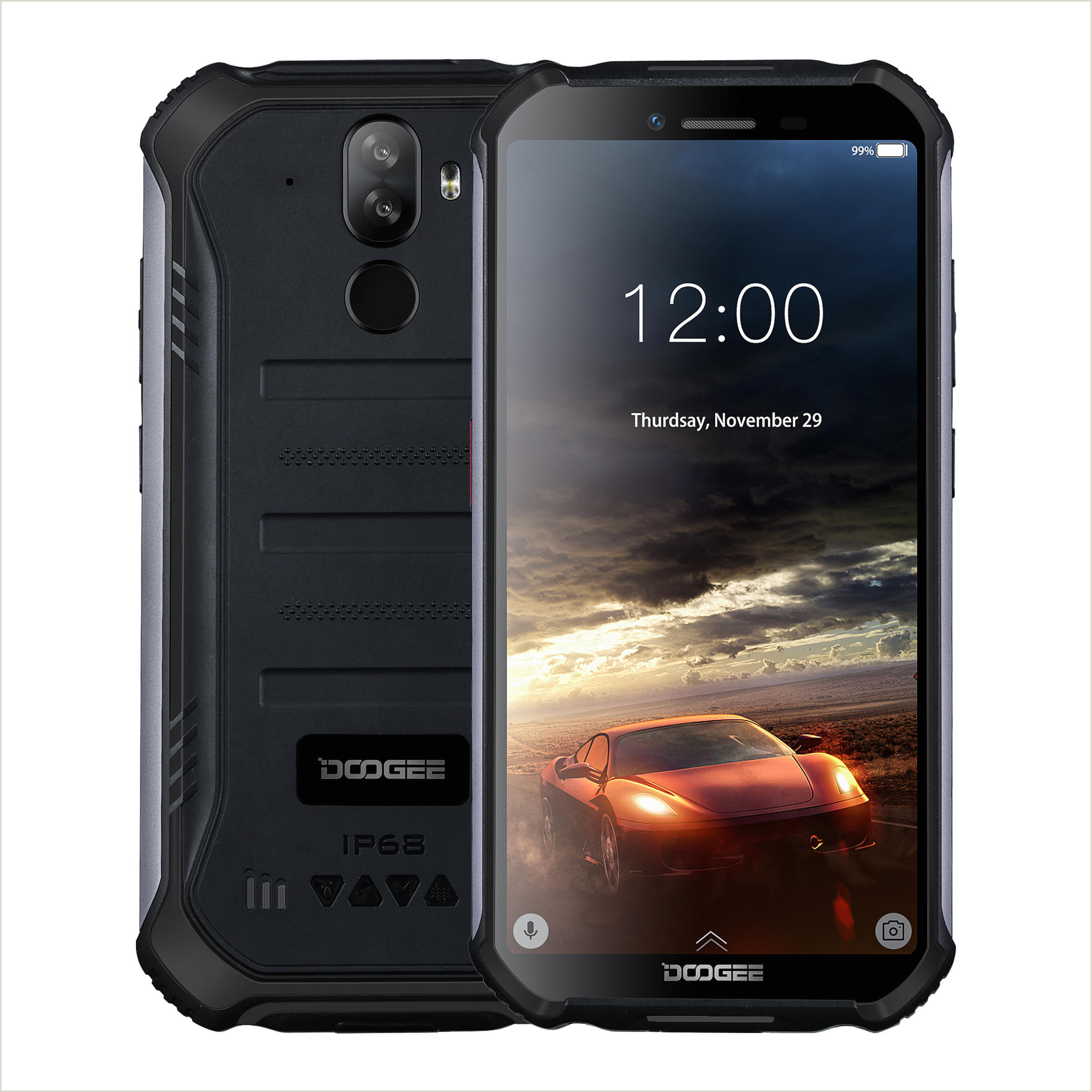 DOOGEE S40 5 5 pouces IP68 IP69K NFC étanche Android 9 0 4650mAh 3GB RAM 32GB ROM MT6739 Quad Core 4G Smartphone