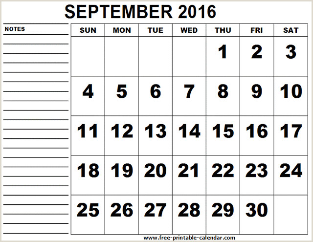 Vacation Schedule Template 2016 2016 September Calendar Excel