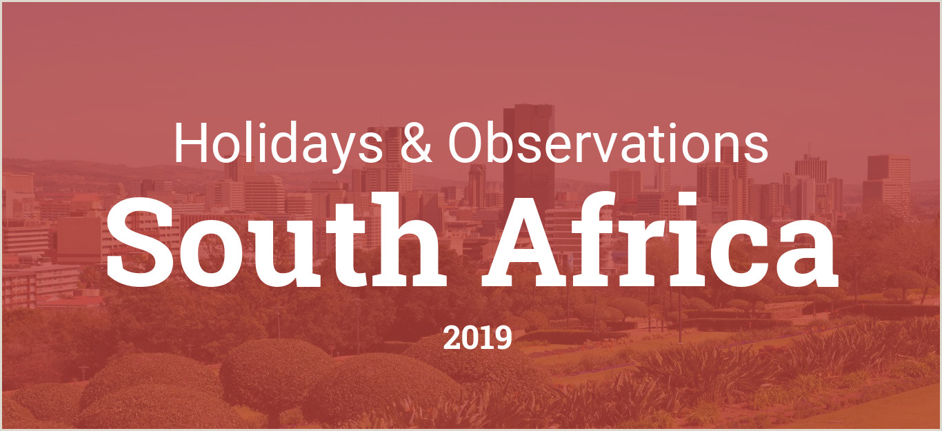 Vacation Schedule Template 2016 Holidays and Observances In south Africa In 2019