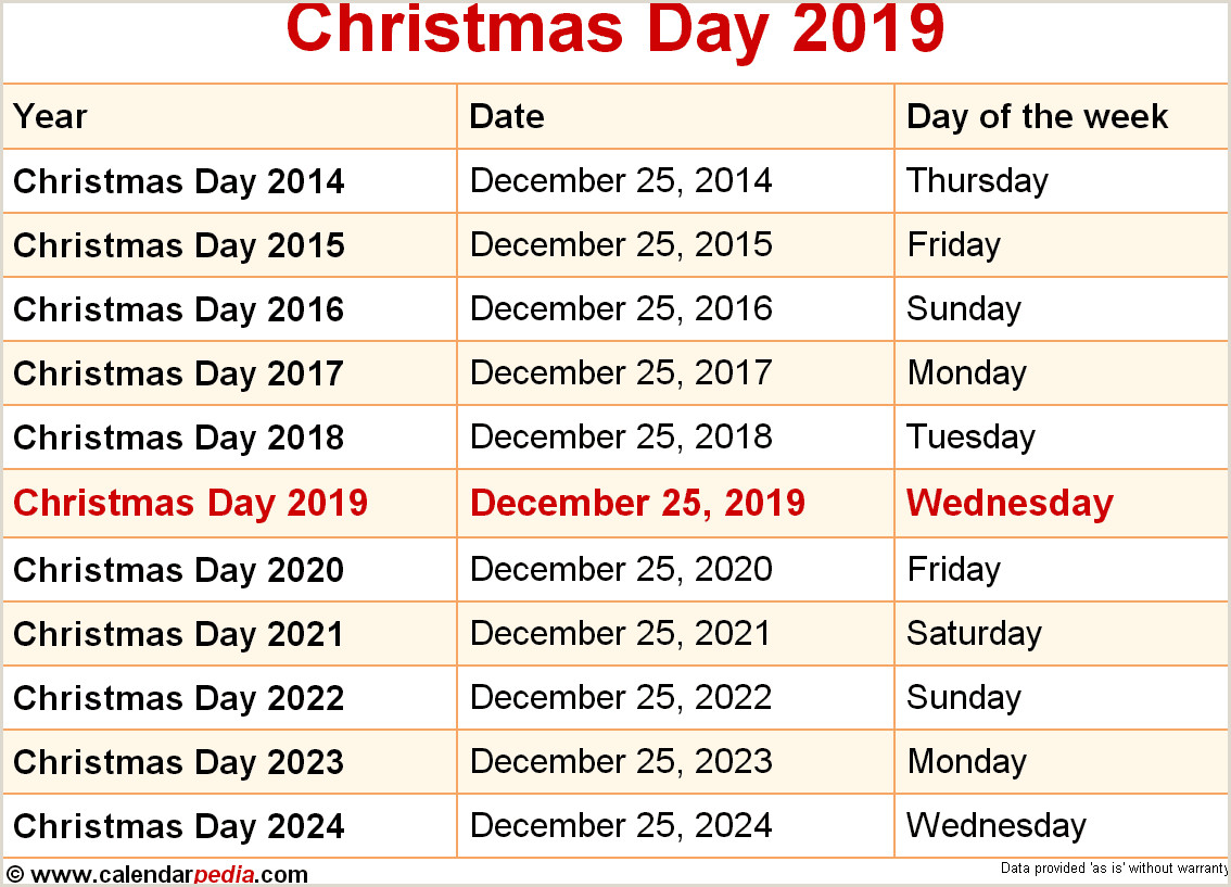 When is Christmas Day 2019 & 2020 Dates of Christmas Day