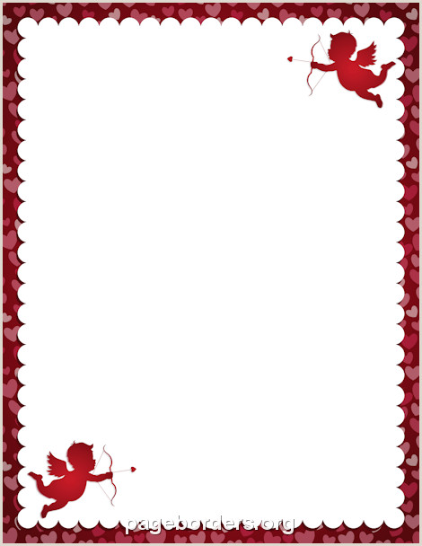 Valentines Day Page Borders Day Borders Kadilrpentersdaughter