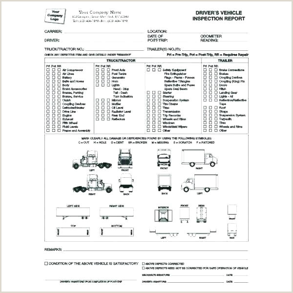 Vehicle Inspection Sheet Excel Equipment Inspection Sheet Template Quality Vehicle forms