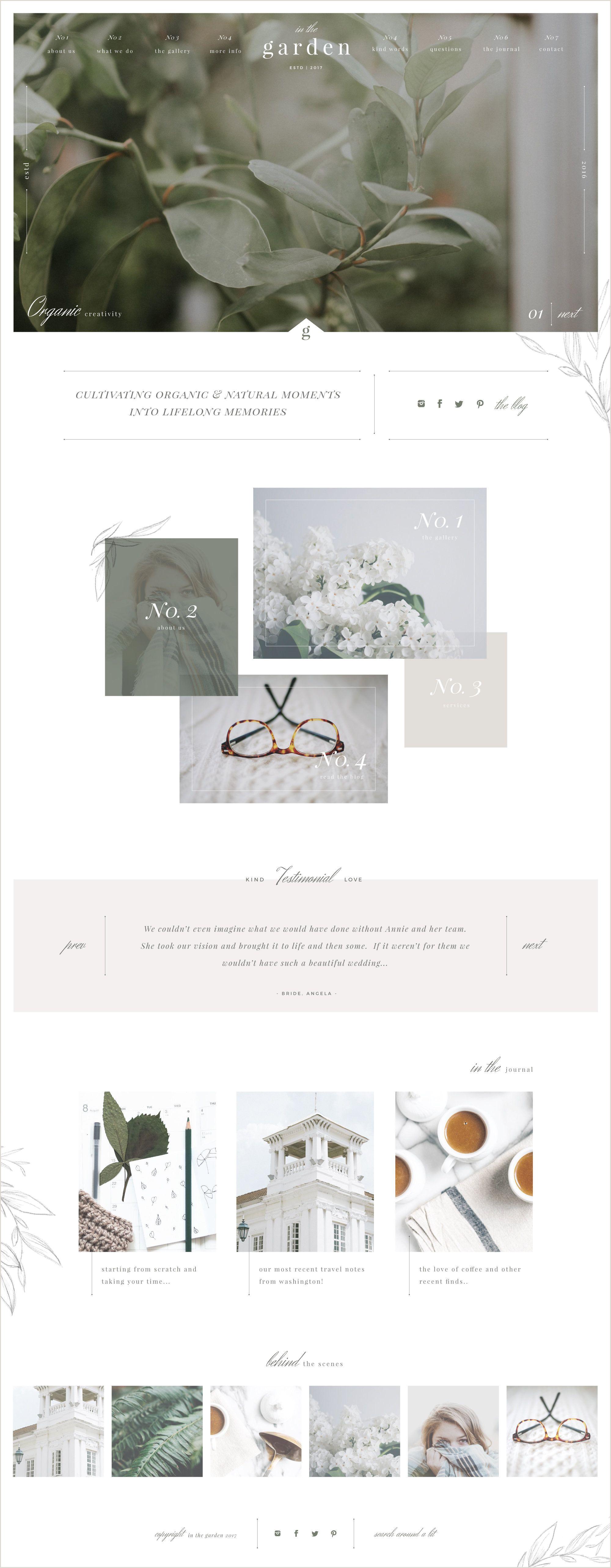 A Sophisticated & Creative Website Template Design