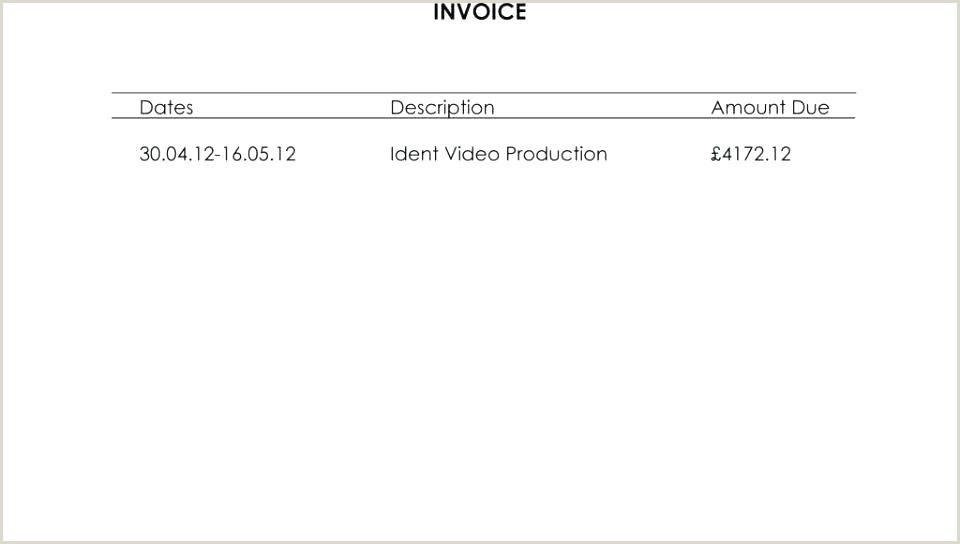 Invoice Template Co Templates Videography Freelance