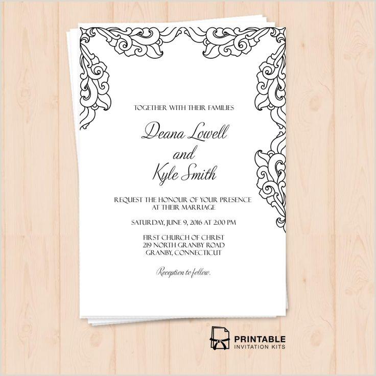 Blank Wedding Invitation Templates Free Invitation Templates