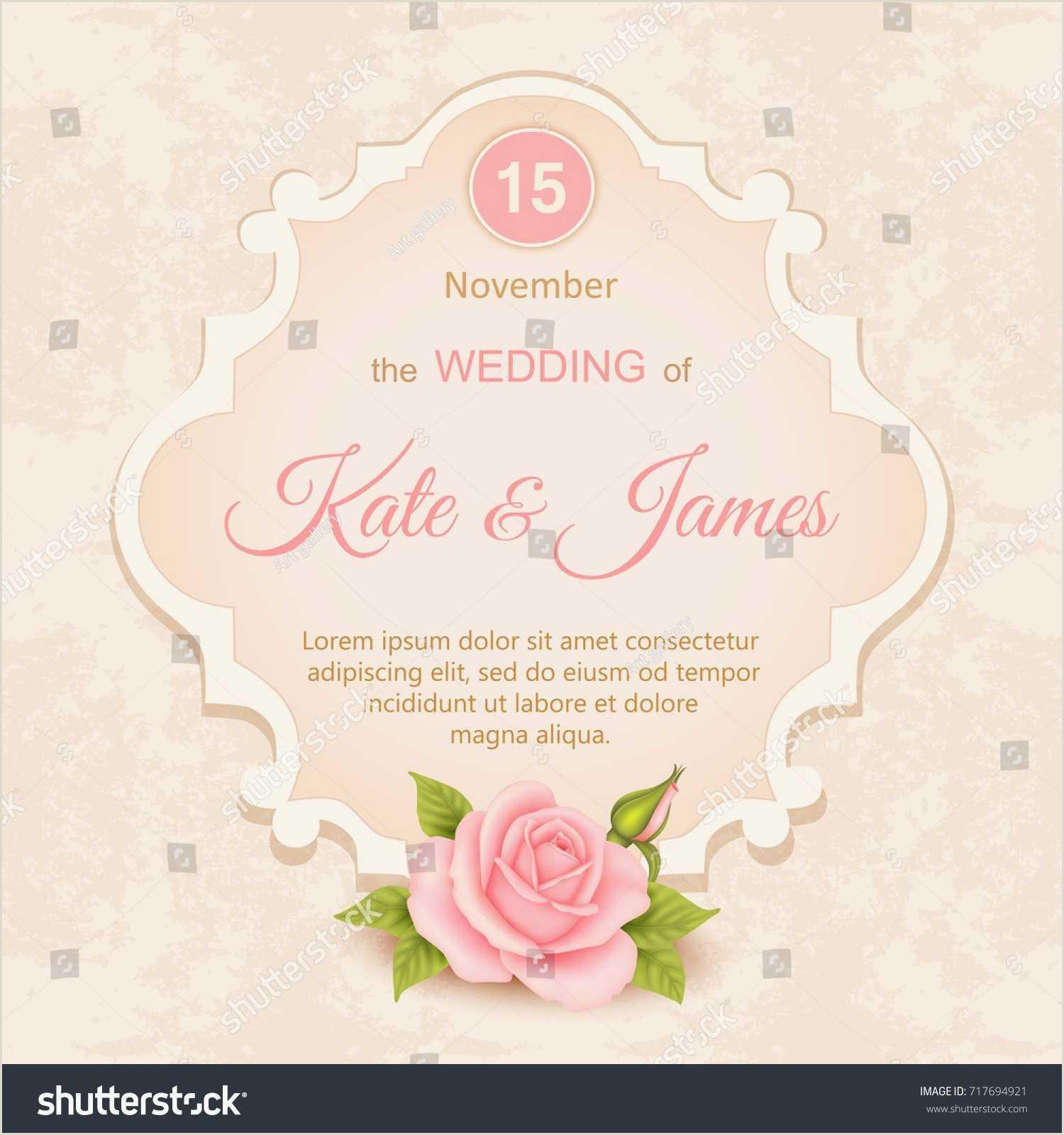 Postcard Wedding Invitations Template