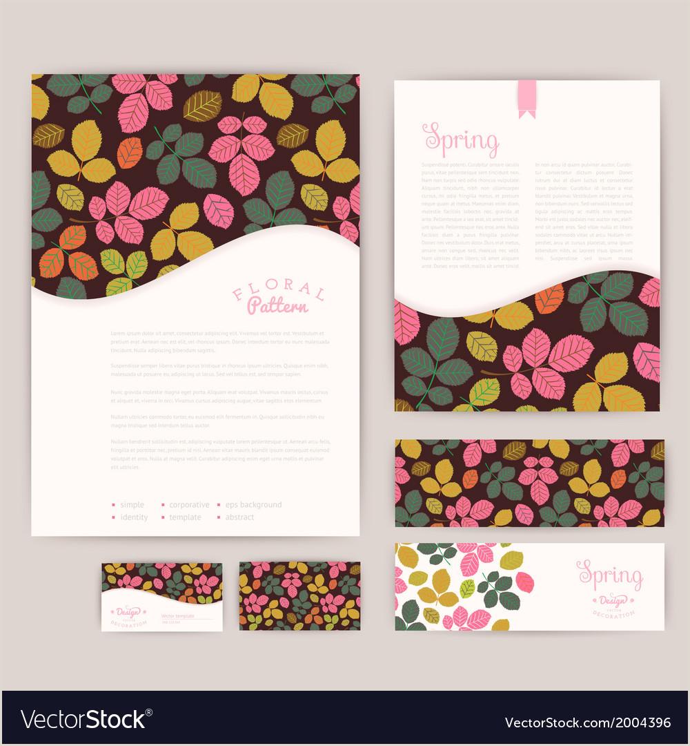 Set of floral vintage wedding cards invitations
