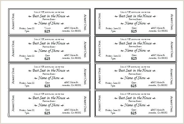 Vip Ticket Template Free Pass Microsoft Word Pics