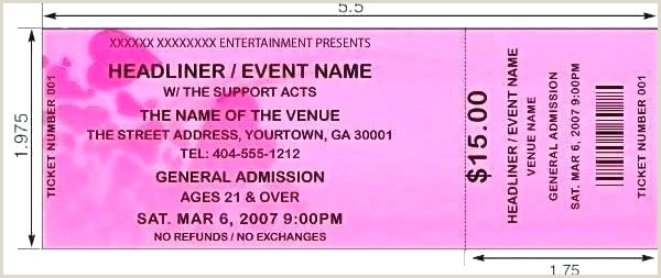 Free Ticket Design Template Ticket Layout Template Free