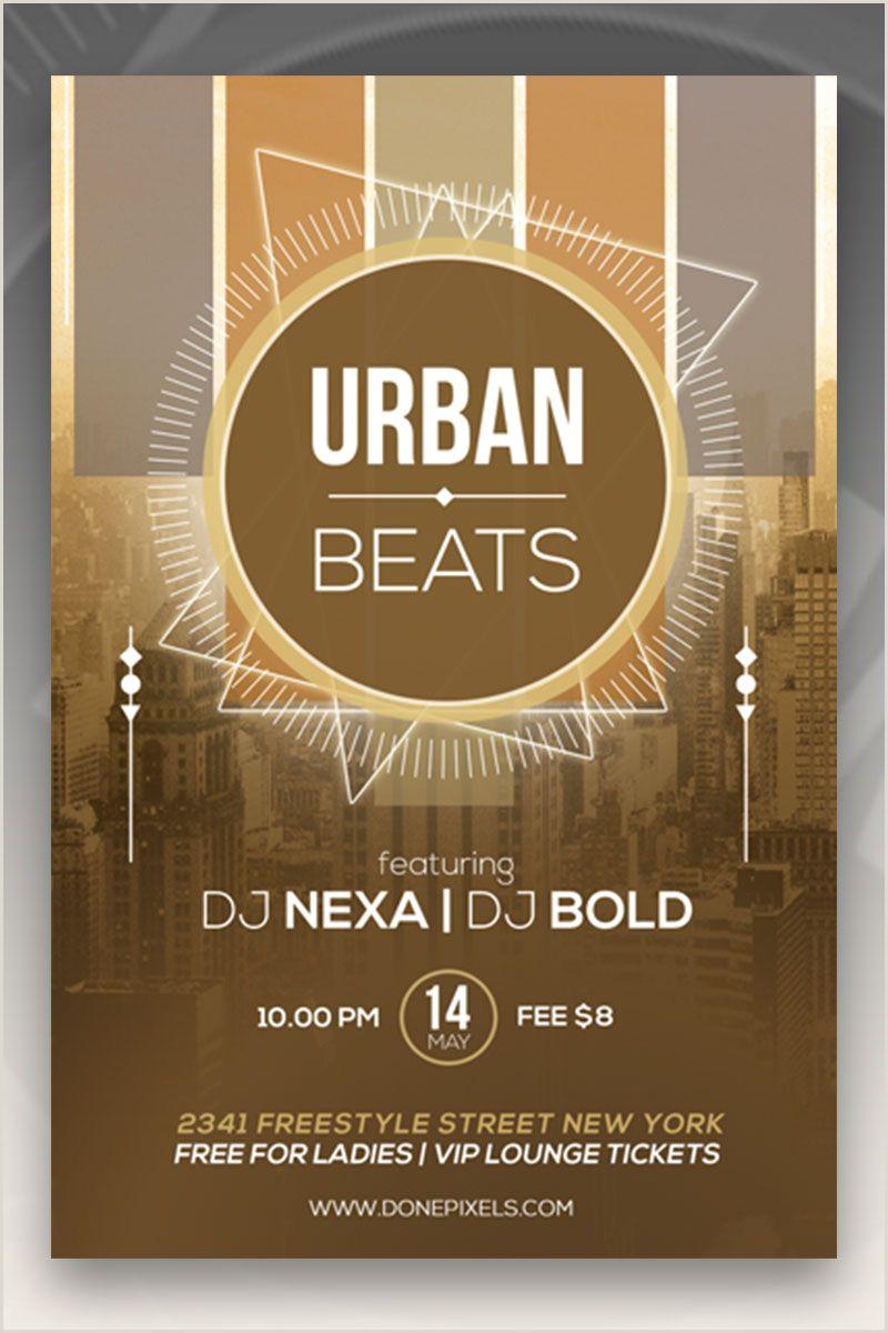Urban beats free flyer design Stylish PSD template
