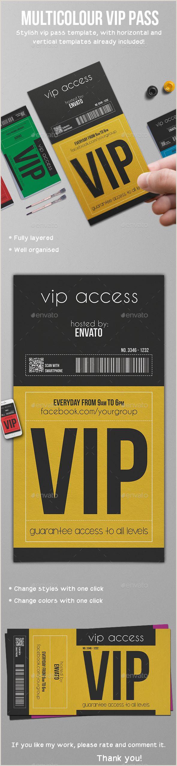 Vip ticket invitation template hpcr