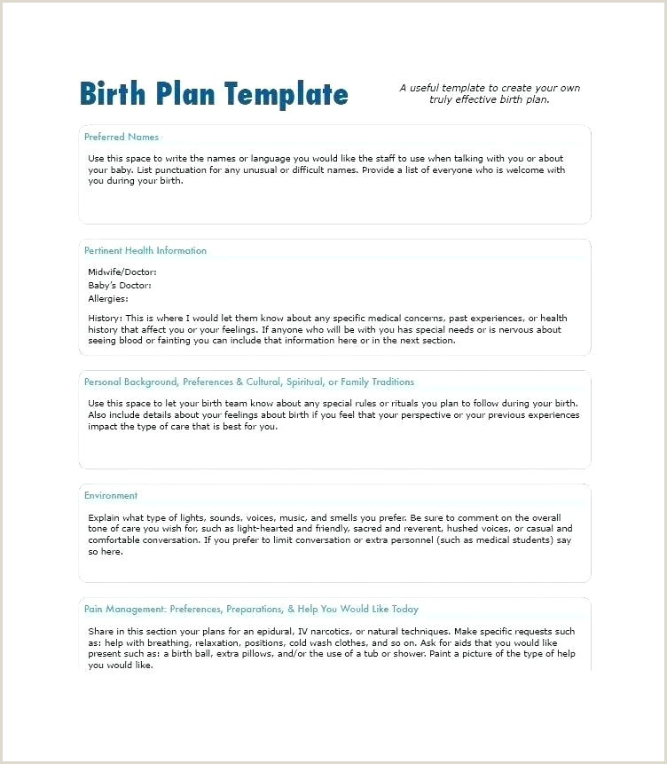 Visual Birth Plan Generator Natural Birth Plan Template Word Document Uk