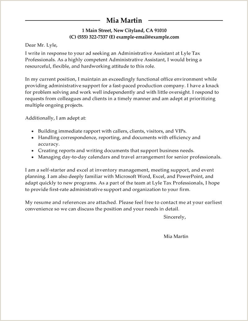 Cover Letter Template for Administrative assistant Job