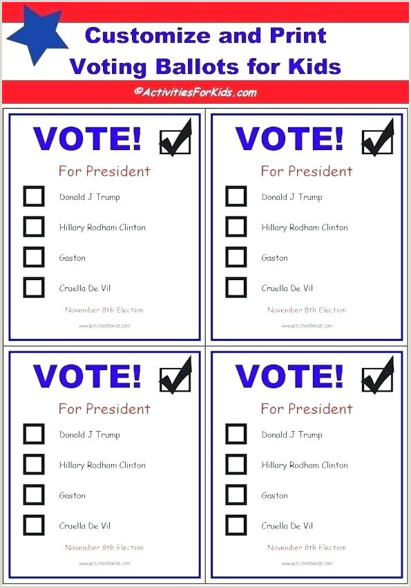 Voting Ballot Template for Word Blank Ballot Template – Musacreative