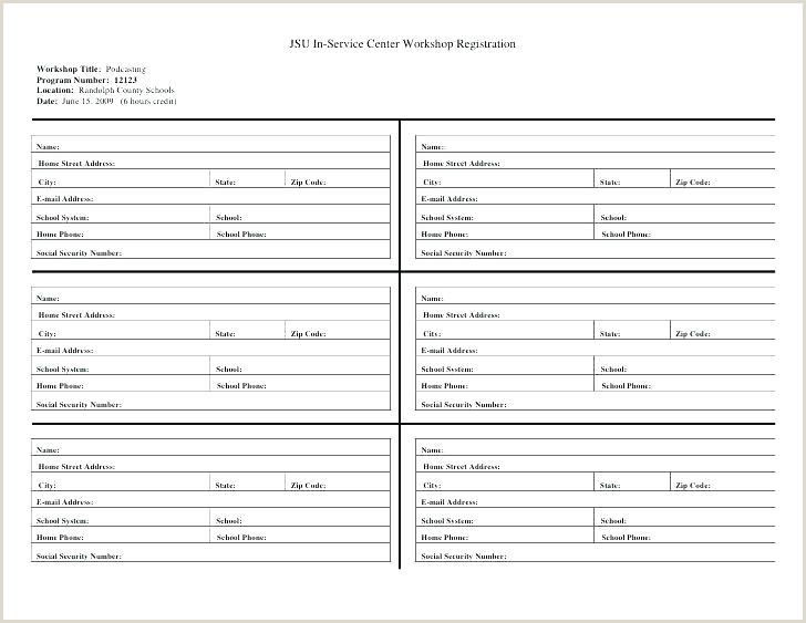 Workshop Registration Form Blank petition Ballot Template