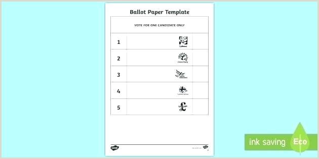 Download A Free Election Ballot Template Ballot Template