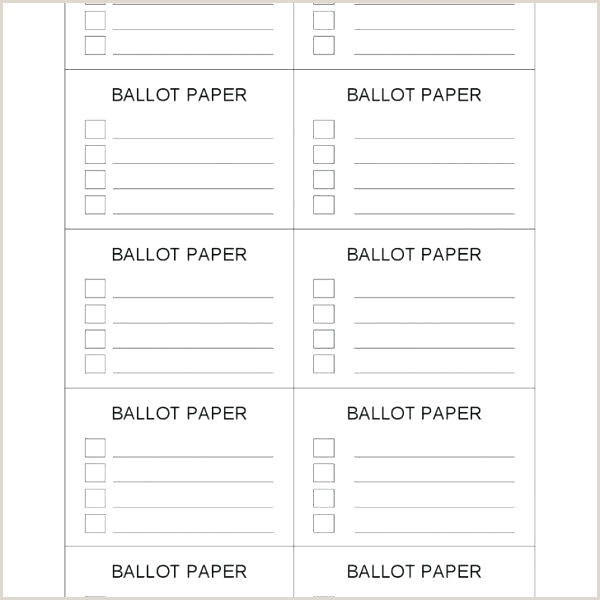 Tally Printable Ballot Template Free Templates With Voting