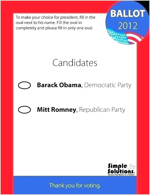Voting Ballot Template For Word Elegant Prize Within
