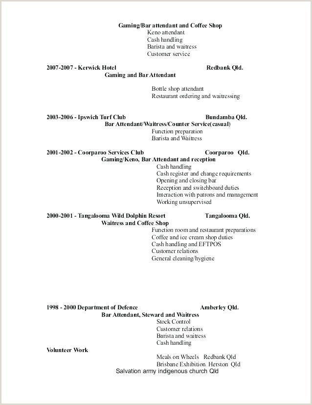 Example Waitress Resume Responsibilities Description Samples