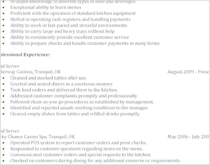 Waitress Duties Resume Responsibilities Of A Waitress for Resume – Englishor