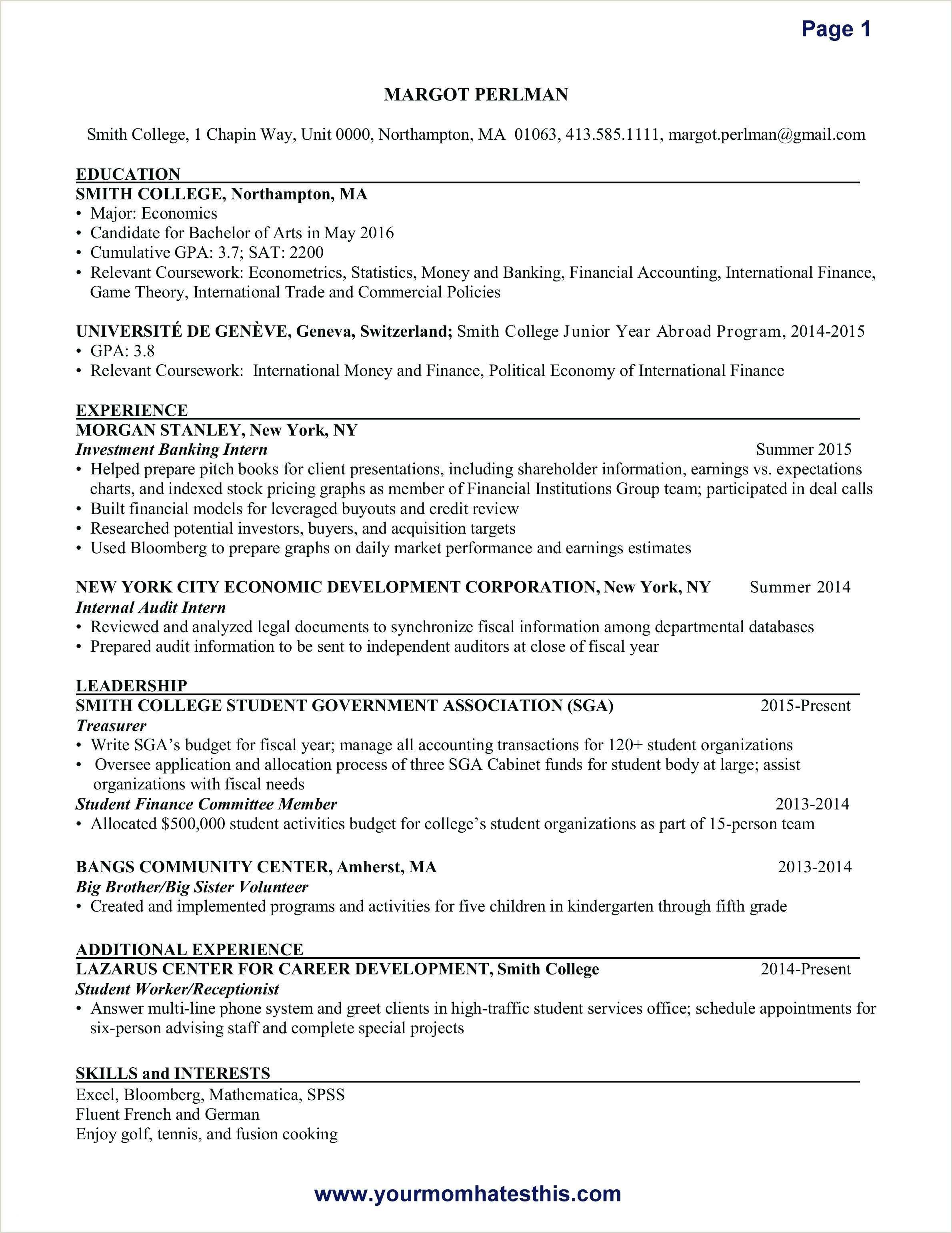 Waitress Resume Template Professional 30 Sample Bartender