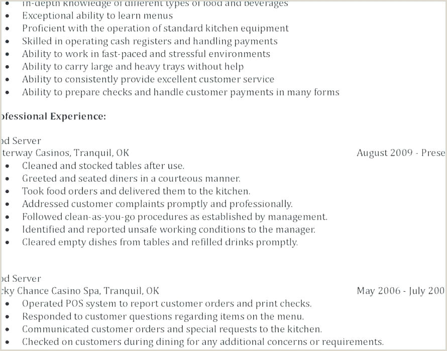 Waitress Resume Job Description Fine Dining Waiter Resume – Airexpresscarrier