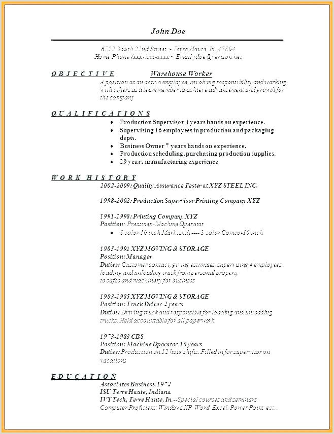 Warehouse Selector Resume Packer Job Description Resume Sample Warehouse Picker Job