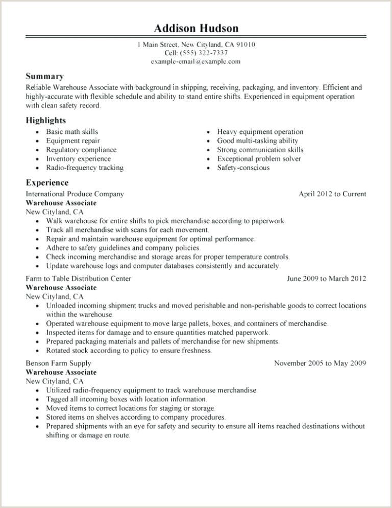 Warehouse Selector Resume Sample Resume for Warehouse Picker Packer – Thrifdecorblog