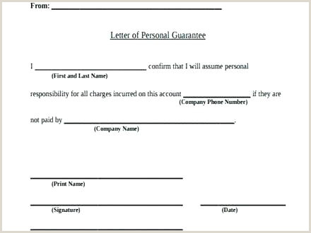 Warranty Letter Template Guarantee Letter Templates Free Word format Surety Personal
