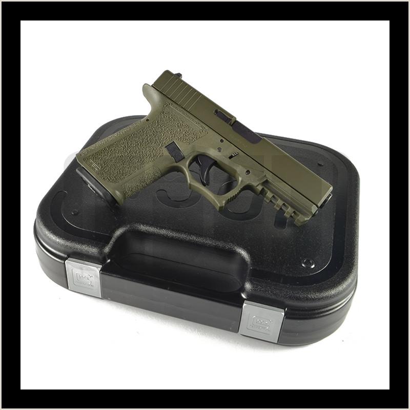 Glock G19 Pistol Build Kit 9mm Polymer80 PF940C OD Green