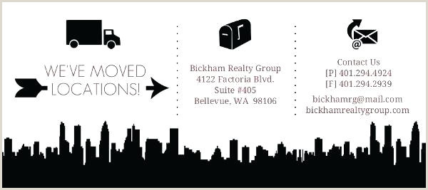 We Re Moving Postcards for Business Business Moving Announcements Announcement Template Icons Were