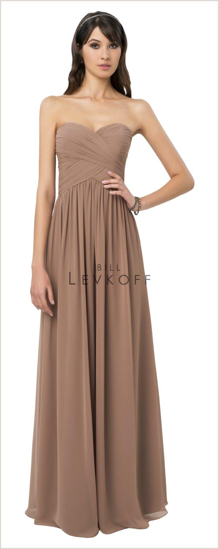 Wedding Dresses Joplin Mo Bill Levkoff 778 Chiffon Strapless Bridesmaid Dress
