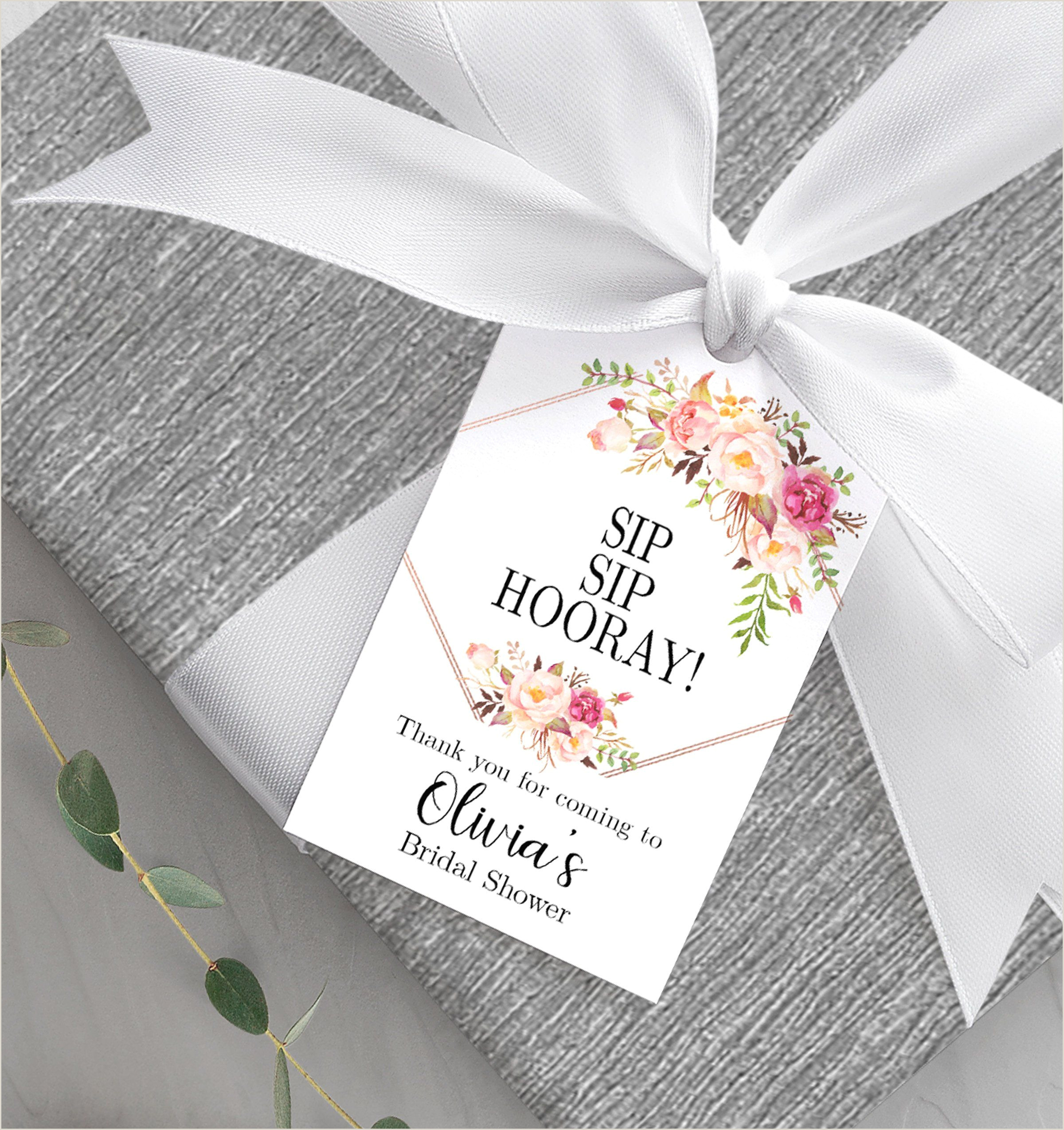 Wedding Favors Tags Template Bridal Shower Favor Tag Printable Sip Sip Hooray Tag