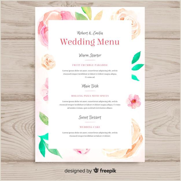Wedding menu template Vector