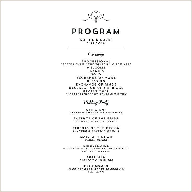 Sample Wedding Programme Ceremony Program Wording – ttalk