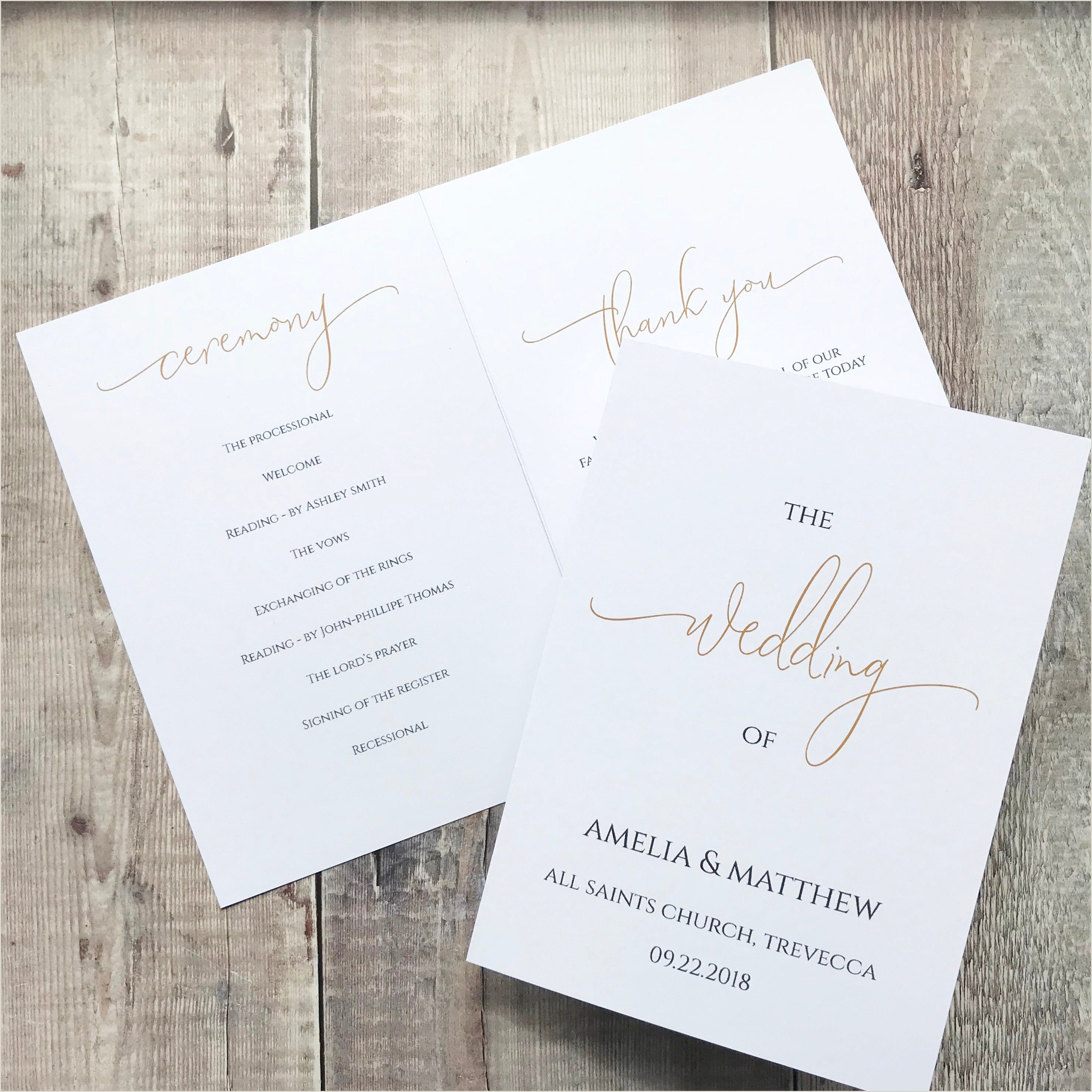 Wedding Program Templates Etsy Folded Program Template Sinmarpentersdaughter
